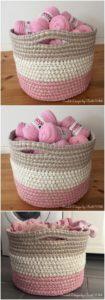 Crochet Basket Pattern (33)