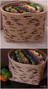 Crochet Basket Pattern (35)