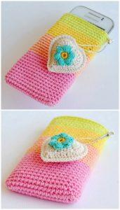 Crochet Mobile Cover Pattern (15)
