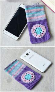 Crochet Mobile Cover Pattern (46)
