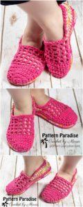 Crochet Slipper Pattern (35)