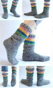 Crochet Slipper Pattern (4)