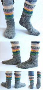 Crochet Slipper Pattern (5)