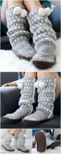 Crochet Slipper Pattern (50)