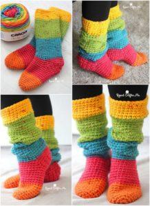 Crochet Slipper Pattern (52)