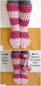 Crochet Slipper Pattern (9)